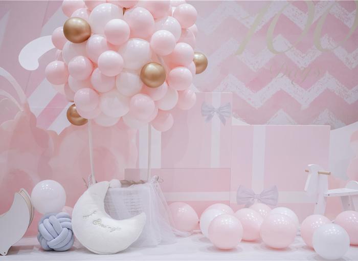 粉色系宝宝百日宴