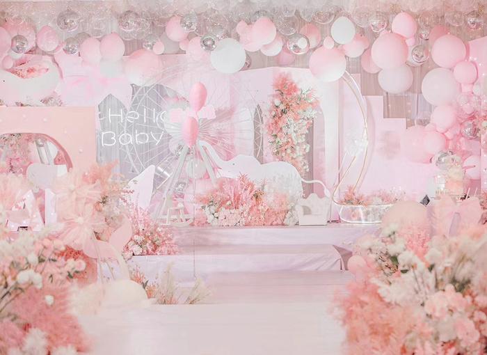 粉色主题 - 粉红色大熊猫百日宴